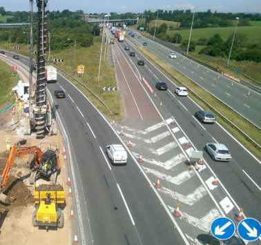 M6 Motorway Piling Works