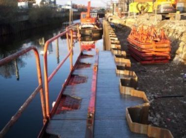 Rotherham Canal Repair Works