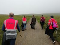 The team ascend the Ridge Trail