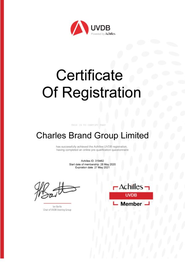 Achilles Certificate Charles Brand Page 1