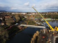The section is lifted into position