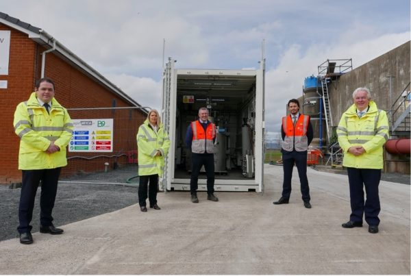 The Oxygen and Hydrogen Demonstrator Project currently underway at Kinnegar Wastewater Treatment Works