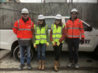 Work Experience Students At Spencer Dock Dublin Niamh Carr And Jenna Mcgibbon Dec 183