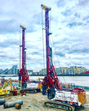 FK Lowry Piling Successfully Complete Thames Tideway Tunnel Project