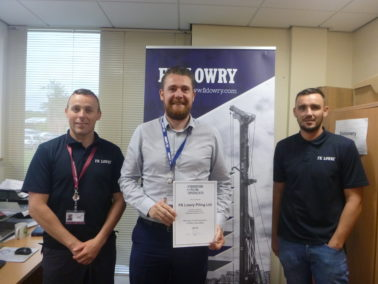 FK Lowry Re-Accredited by the Federation of Piling Specialists